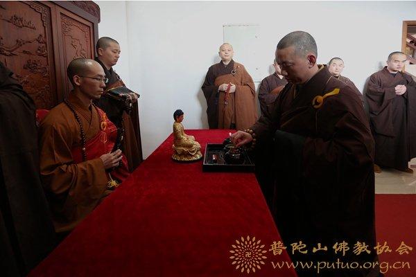 宝陀讲寺讲经迎请引礼班遵循佛教丛林开大座传统迎请定明法师