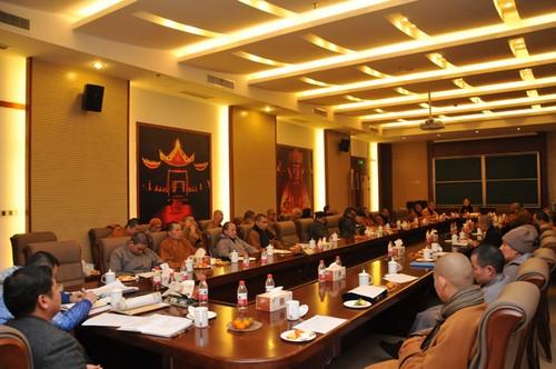 中国佛学院普陀山学院2014-2015学年第二次全体法师会议召开