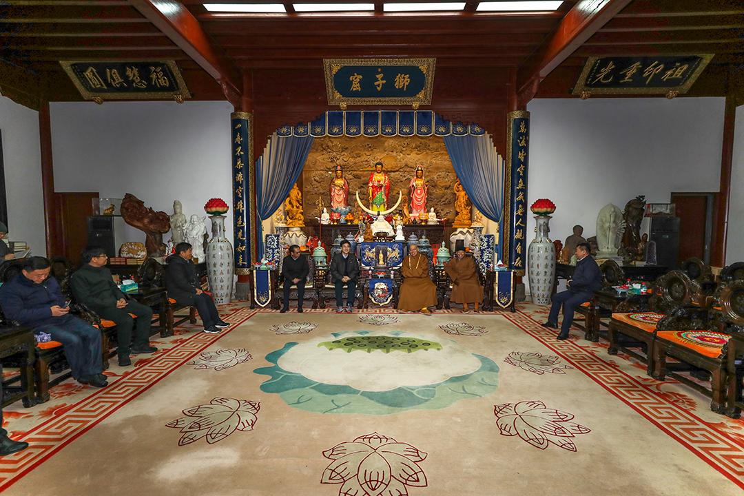 江苏省镇江市委统战部考察团一行到访普陀山考察交流