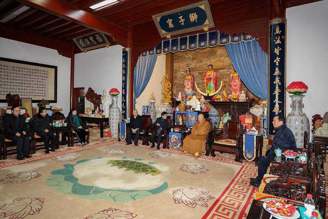 北京市宗教文化研究会考察团到访普陀山考察交流