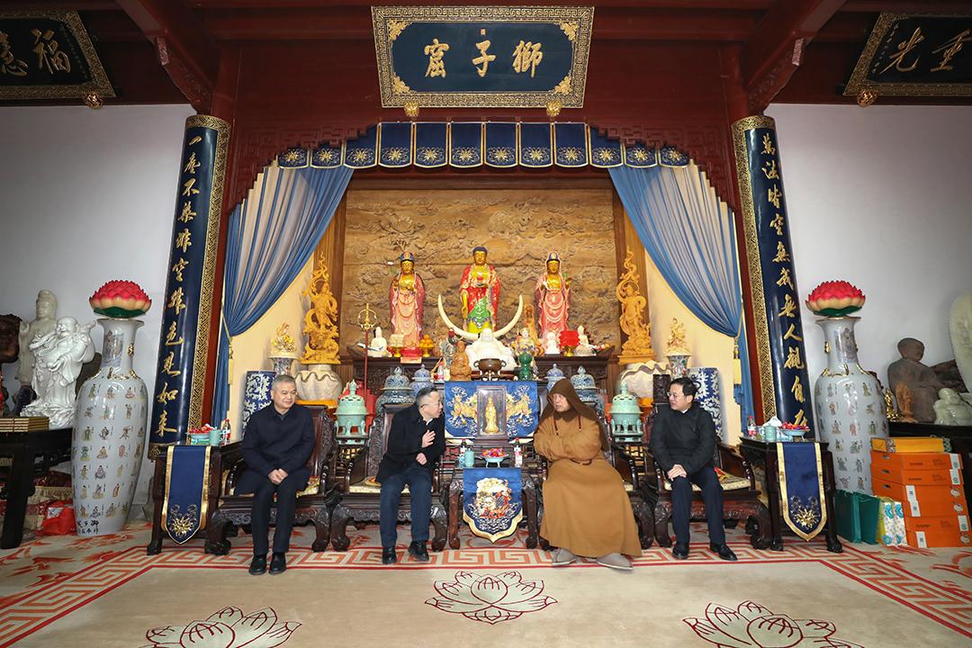 浙江省衢州市委统战部考察团一行到访普陀山考察交流