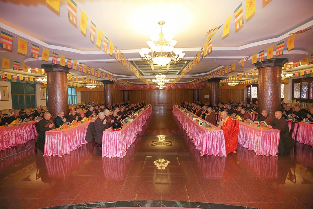 普陀山佛教协会举行全山执事第四十三期共修观音七法会