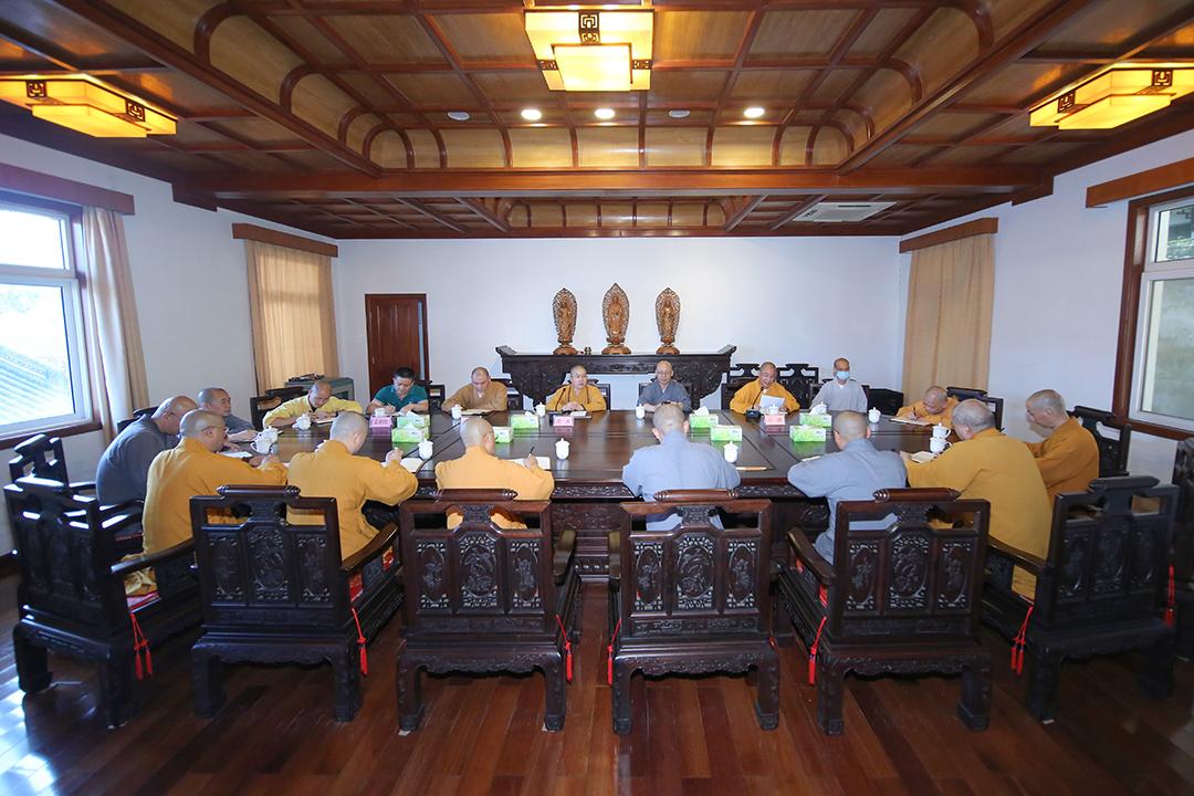 普陀山佛教协会召开国庆假期全山各寺院(单位)安全及疫情防控工作会议