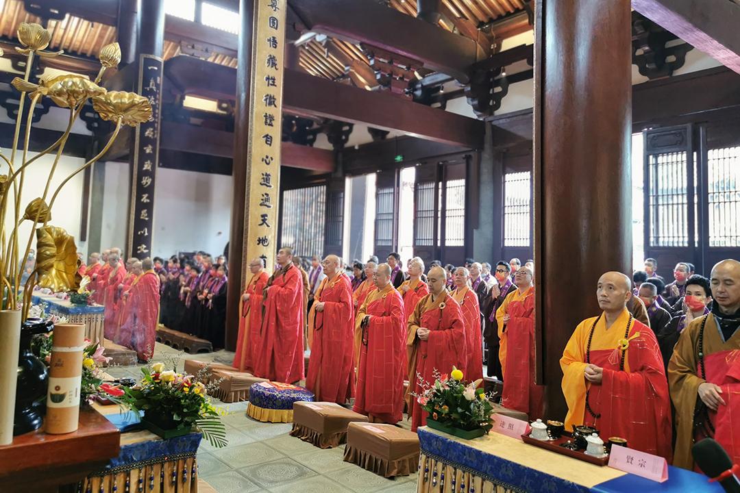 会长道慈大和尚一行出席杭州径山万寿禅寺重修圆满落成庆典