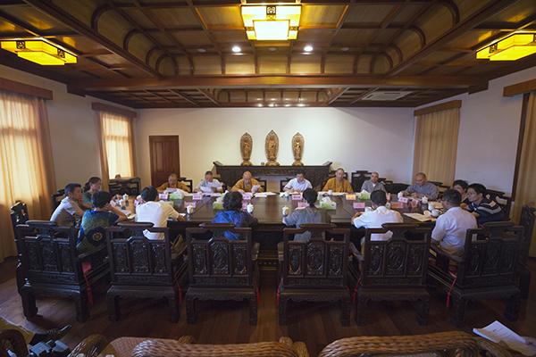 普陀山佛教协会召开2017年度慈善工作座谈会