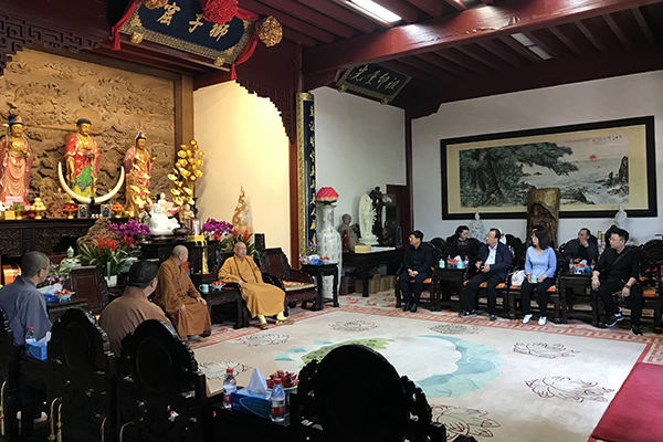 山西省大同市佛教协会参访团一行参访普陀山