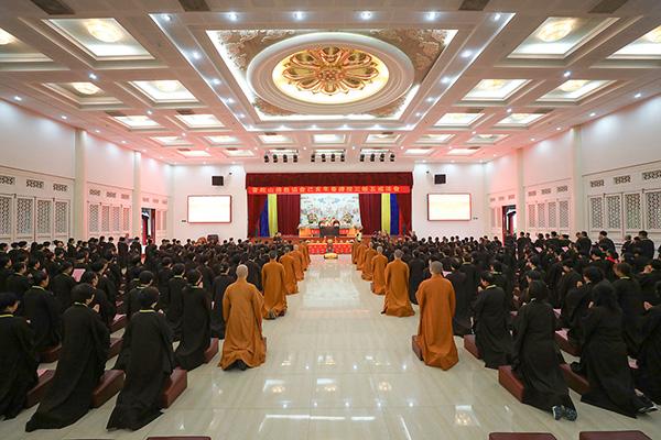 普陀山佛教协会己亥年春传授三皈五戒法会圆满