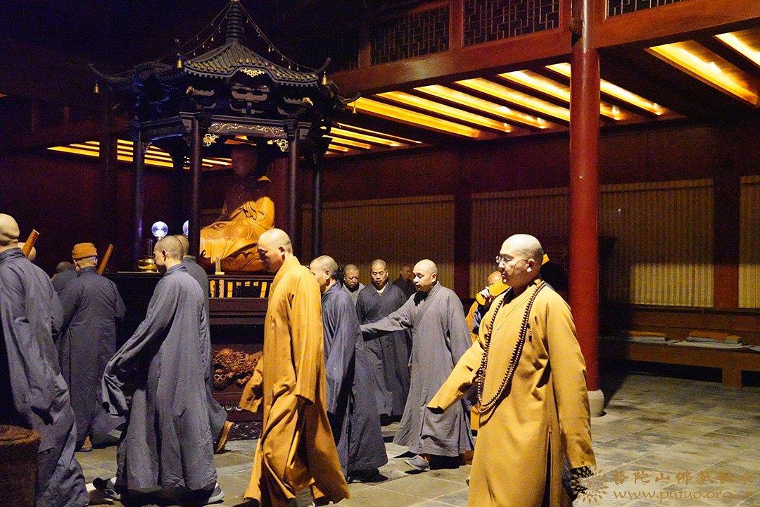 普陀山法雨禅寺举行己亥冬季禅七法会