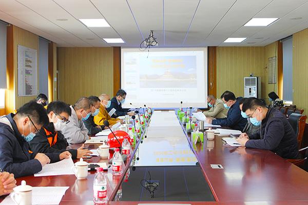 王伟部长调研观音文化园观音法界项目建设情况