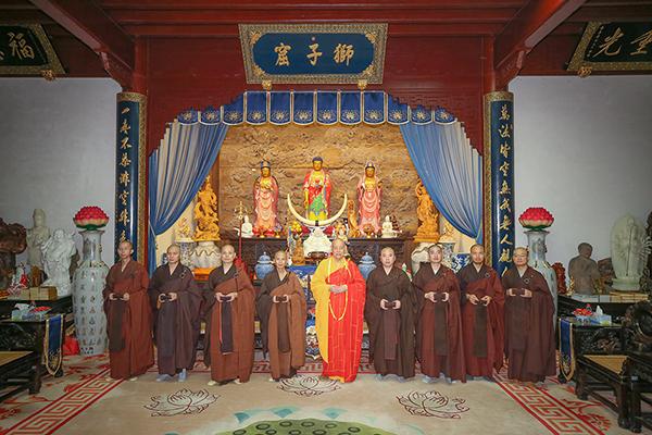 会长道慈大和尚为香林净院等寺院安居僧结夏圆满作教诫